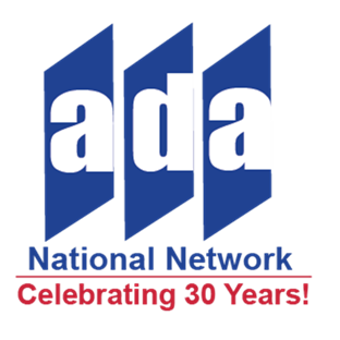 Celebrating 30 year ADA National Network  Logo